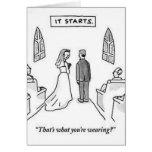 Humor del boda tarjeton