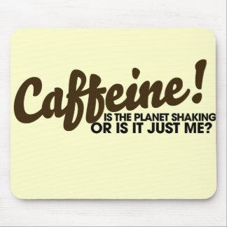 Humor del cafeína mousepads