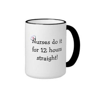 Humor del cambio de las enfermeras taza de café