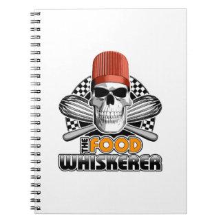 Humor del cocinero: Comida Whiskerer v1 Spiral Notebook