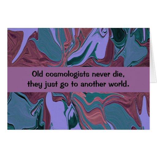 humor del cosmólogo tarjeta de felicitación