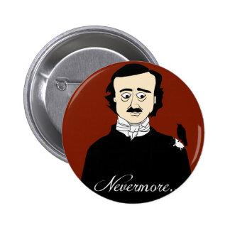 Humor del cuervo de Edgar Allan Poe Pin Redondo De 2 Pulgadas