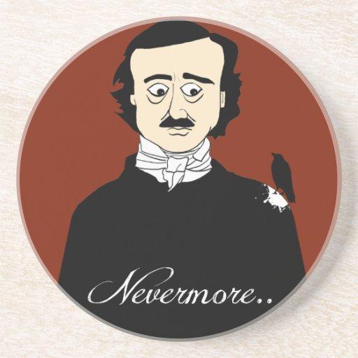 Humor del cuervo de Edgar Allan Poe Posavasos Personalizados