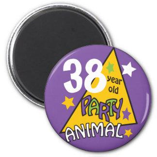 Humor del cumpleaños de la EDAD el | del Imán Redondo 5 Cm