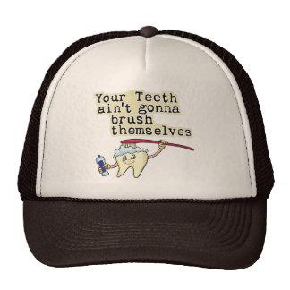 Humor del dentista y del higienista dental gorro de camionero