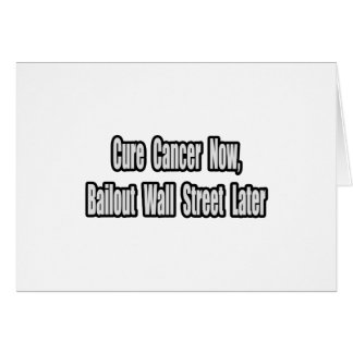 Humor del desalojo urgente del cáncer tarjeta