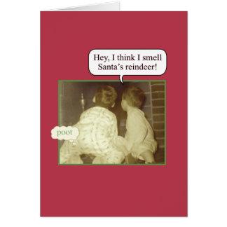 Humor del día de fiesta tarjeta de felicitación