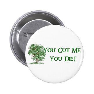 Humor del Día de la Tierra Pin Redondo 5 Cm