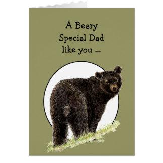 Humor del día de padre del oso para el papá del Sp Tarjeta De Felicitación