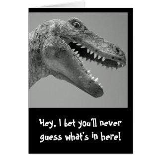 Humor del dinosaurio felicitación