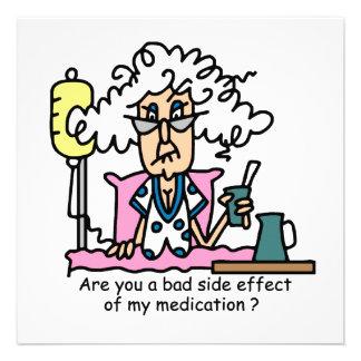 Humor del efecto secundario de la medicación invitaciones personales