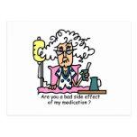 Humor del efecto secundario de la medicación postal