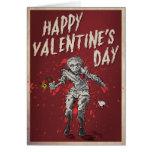 Humor del el día de San Valentín del zombi Tarjeta De Felicitación