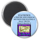 Humor del estadístico de las ESTADÍSTICAS Iman Para Frigorífico