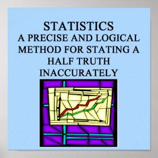 Humor del estadístico de las ESTADÍSTICAS Póster