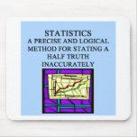 Humor del estadístico de las ESTADÍSTICAS Tapetes De Ratones