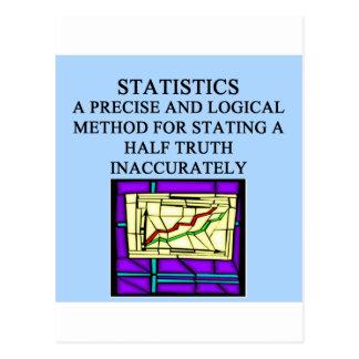 Humor del estadístico de las ESTADÍSTICAS Postales
