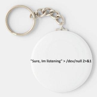 Humor del friki, apenas no escucho llaveros