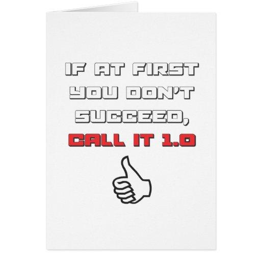 Humor del friki - llámelo 1,0 tarjeta de felicitación