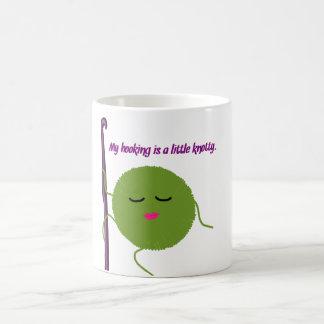 Humor del ganchillo taza de café