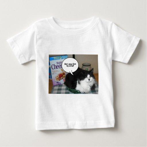 Humor del gato playera de bebé