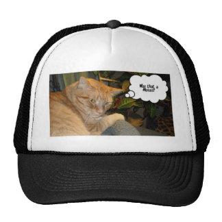 Humor del gato y del ratón gorras de camionero