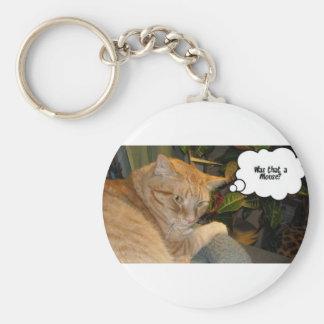 Humor del gato y del ratón llavero redondo tipo pin