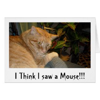 Humor del gato y del ratón tarjeta de felicitación