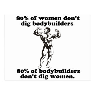 Humor del gay del Bodybuilding Tarjeta Postal