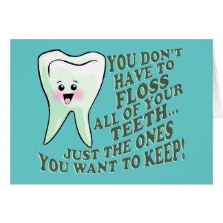 Humor del higienista dental del dentista felicitación