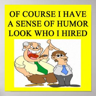 humor del jefe posters