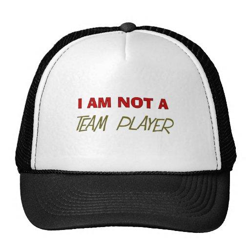 "Humor del jugador de equipo ""no soy jugador de equ gorros"