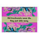 humor del jugador de trombone tarjeta de felicitación