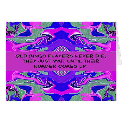humor del jugador del bingo tarjeta de felicitación