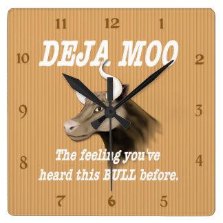 Humor del MOO de Deja Reloj De Pared