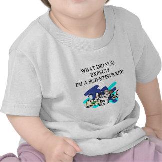 humor del niño de la ciencia camisetas