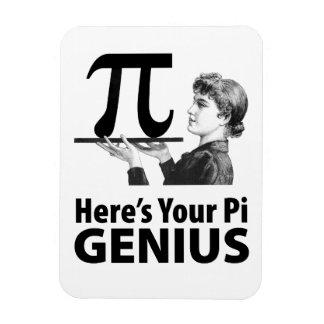 Humor del número del pi imán flexible
