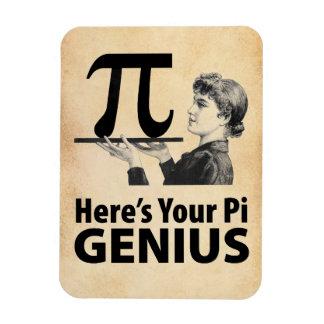 Humor del número del pi imanes rectangulares