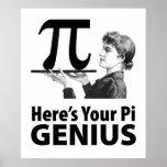 Humor del número del pi poster