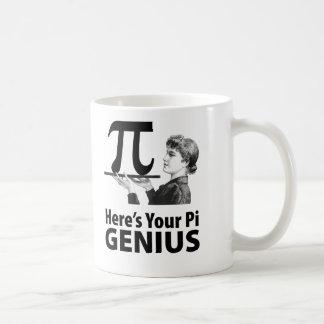 Humor del número del pi taza de café