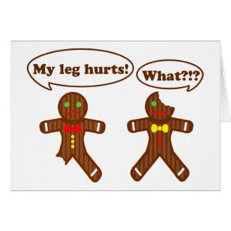 Humor del pan de jengibre tarjetas