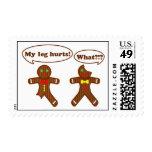 Humor del pan de jengibre timbre postal