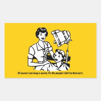 Humor del peluquero - por supuesto puedo guardar pegatina rectangular