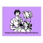 Humor del peluquero - por supuesto puedo guardar postal