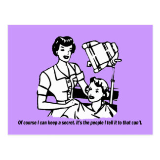 Humor del peluquero - por supuesto puedo guardar u tarjetas postales