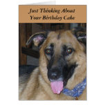 Humor del perro de Pavlov de la torta de cumpleaño Tarjeta