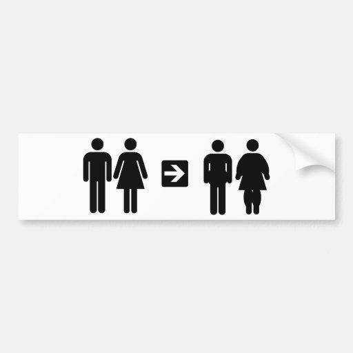 humor del pictograma pegatina para auto