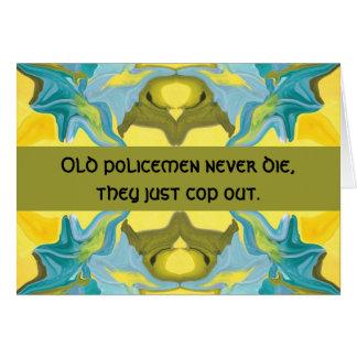 humor del policía tarjeta de felicitación