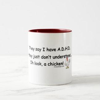Humor del pollo de ADHD Tazas De Café