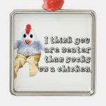Humor del pollo ornamentos para reyes magos